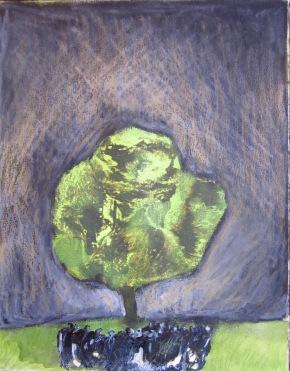 Arbre vert avec petite foule