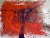 Paysage à l'arbre et aux personnages